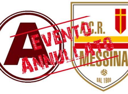 Il Messina non giocherà contro l'Acireale in Coppa Italia