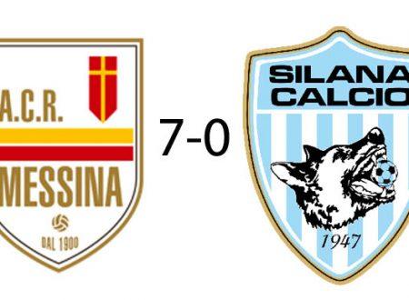 Nella terza amichevole stagionale il Messina vince 7-0 contro la Silana