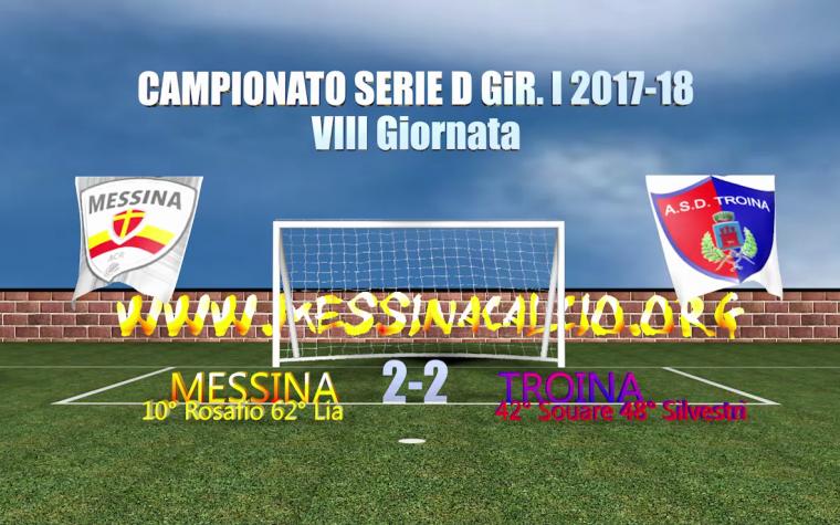 Gli highlights della partita Messina-Troina 2-2