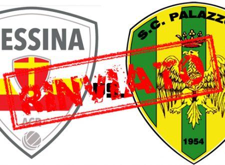 Rinviata la partita Messina-Palazzolo